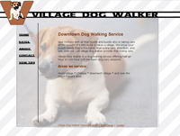Web design for Village dog walker